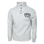 SDSU Aztecs 1/4 Snap Up Sweatshirt -Gray