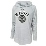 Women's Under Armour SDSU Hood Sweatshirt-Gray