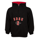 Toddler SDSU 1/4 Zip Jacket-Black