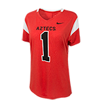 Women's Nike Aztecs #1 Tee-Red
