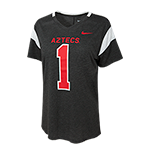 Women's Nike Aztecs #1 Tee-Charcoal