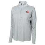 Women's Nike 1/2 Zip Long Sleeve Tee-Gray