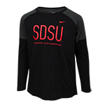 2018 Youth Girls Nike Sideline Long Sleeve Tee-Black