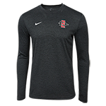 2018 Nike Sideline Long Sleeve  Coach Tee-Charcoal