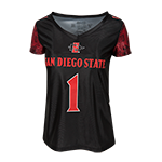 Women's #1 Football Jersey-Black