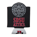 Aztec Calendar Can Holder-Black/Red