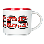 Aztecs Wide Mug-White