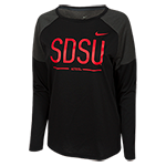 2018 Women's Nike Sideline Long Sleeve Tee-Black