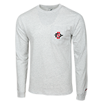 SD Spear Left Chest Long Sleeve Tee-Gray