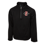 Toddler SD Spear 1/4 Zip Sweatshirt-Black