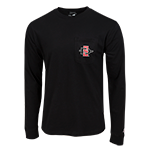 SD Spear Left Chest Long Sleeve Tee-Black