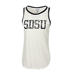 Women's SDSU Ringer Tank-Oxford Gray
