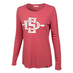 Women's SD Spear Long Sleeve Tee-Red