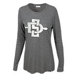 Women's SD Spear Long Sleeve Tee-Gray