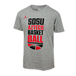 Youth Nike Jordan SDSU Basketball Tee-Gray