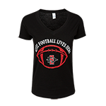 2018 Women's Aztec Football Spirit Tee-Black