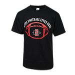 2018 Youth Aztec Football Spirit Tee-Black