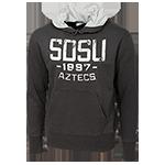 SDSU 1897 Aztecs Hood Sweatshirt-Charcoal 4b3143feb