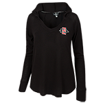 Women's SD Spear Hood Sweatshirt-Black