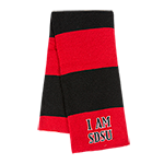 I Am SDSU Scarf- Red & Black