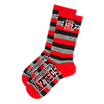 San Diego State Aztecs Tube Socks-Gray