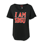 Women's I AM SDSU Tee-Black