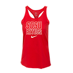 Women's Nike SDSU Aztecs Tank-Red