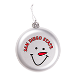 San Diego State Snowman Face Ornament