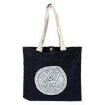 Aztec Calendar Reusable Tote-Denim