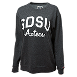 Women SDSU Aztecs Sweatshirt-Charcoal