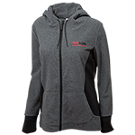 Women's SDSU Alumni Full Zip Fleece-Charcoal