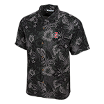 Tommy Bahama SD Spear Camp Shirt-Gray/Black