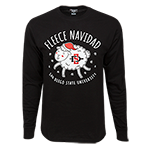 Ugly Sweater Fleece Navidad Tee-Black