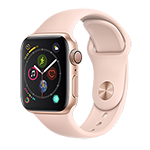Apple Watch Series 4 GPS 40MM (Gold) Aluminum Case w/ Pink Sand Sport Band