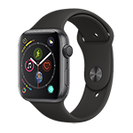 Apple Watch Series 4 GPS 44MM (Space Gray) Aluminum Case w/ Black Sports Band