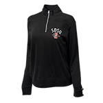 Women's SDSU SD Spear 1/4 Zip Sweatshirt-Black