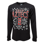 SDSU Aztec Ugly Sweater Long Sleeve Tee-Black
