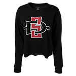 Women's SD Spear Crop Sweatshirt-Black