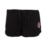 Women's Sugar Shorts with Red & Black SD Spear-Black