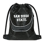 San Diego State Drawstring Bag-Black