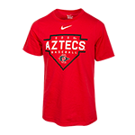 Youth Nike SDSU Aztecs Baseball Tee-Red
