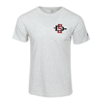SD Spear & SDSU Aztecs Heathered Tee-Oxford Gray