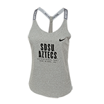 Women's Nike SDSU Aztecs Dri-fit Tank-Gray