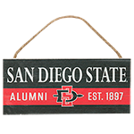 San Diego State Alumni Hanging Sign-Black