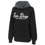 Women's San Diego State Heathered Sweatshirt-Black