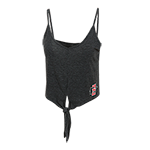 Women's SD Spear Tie Crop Tank-Graphite