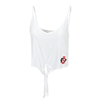Women's SD Spear Tie Crop Tank-White