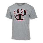 SDSU Champion Tee-Oxford Gray