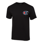 Champion Logo Tee-Black