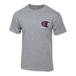 Champion Logo Tee-Oxford Gray